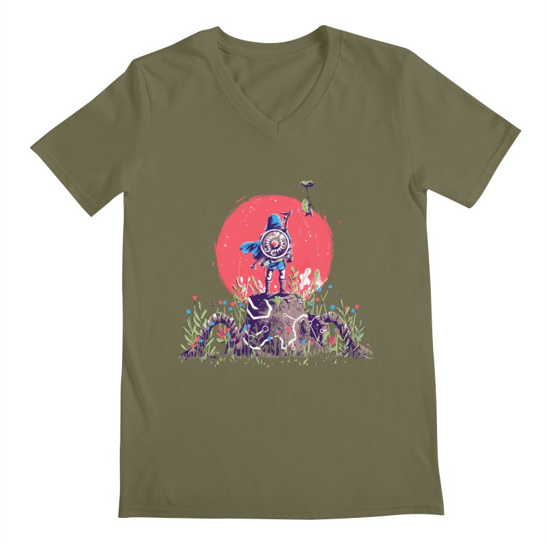 Breath of the Wild Men's Regular V-Neck by MB's Tees