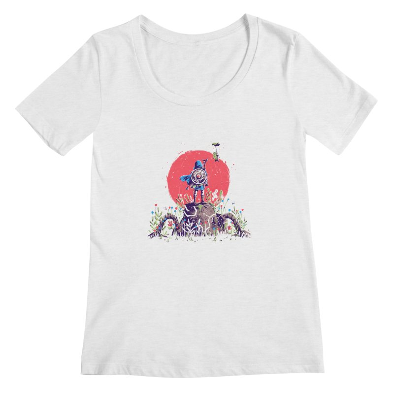 Breath of the Wild Women's Regular Scoop Neck by MB's Collection