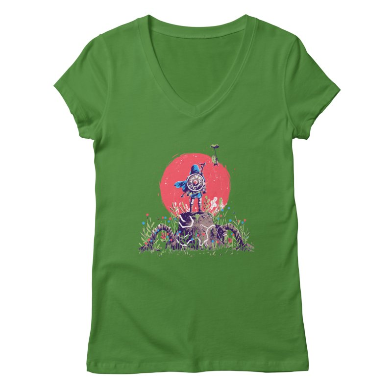 Breath of the Wild Women's Regular V-Neck by MB's Tees