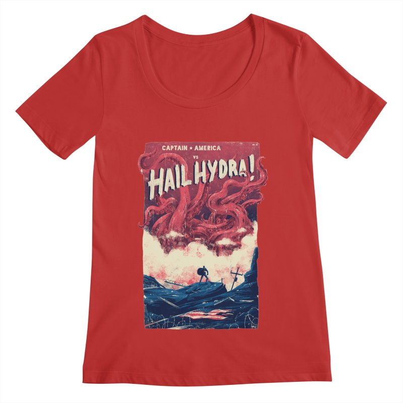 Hail Hydra Women's Regular Scoop Neck by MB's Collection