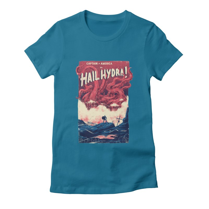 Hail Hydra Women's Fitted T-Shirt by MB's Tees