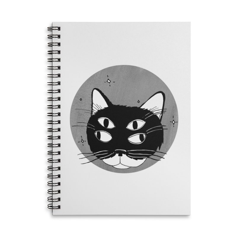 Cat Eyes Accessories Lined Spiral Notebook by Mariel Kelly