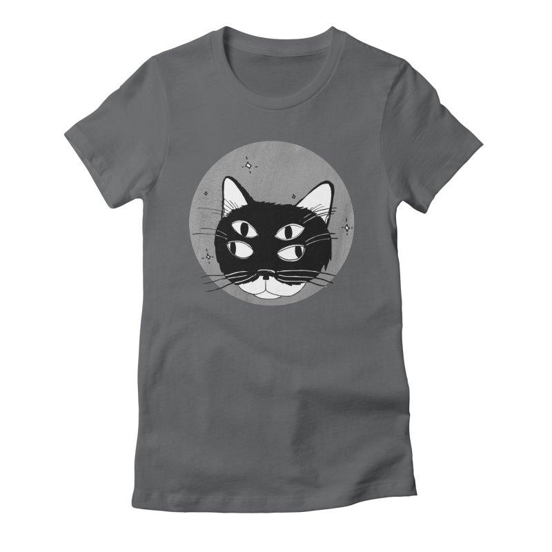 Cat Eyes Women's Fitted T-Shirt by Mariel Kelly