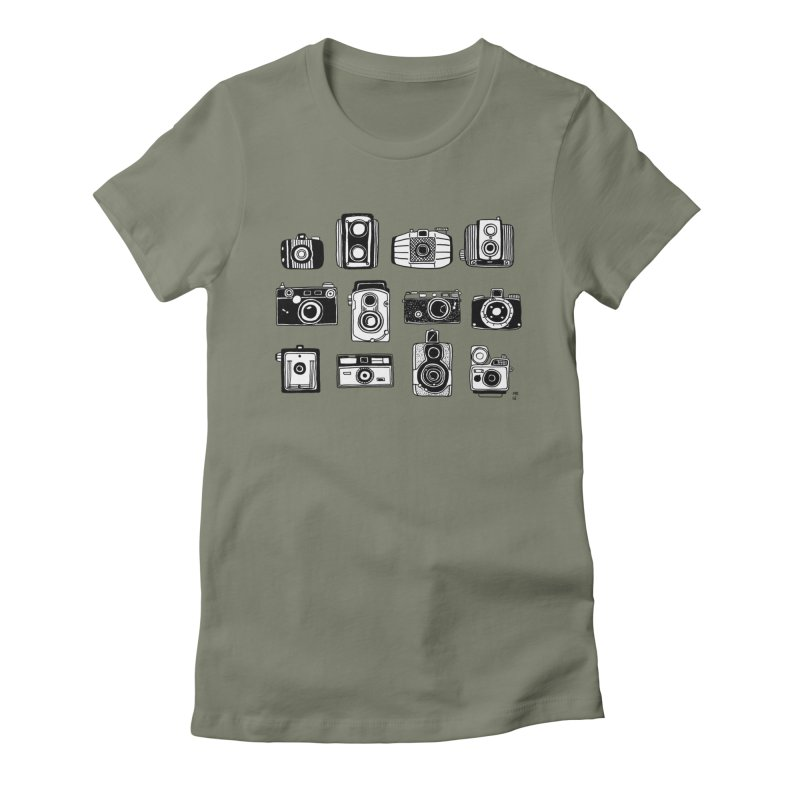 Snap Women's Fitted T-Shirt by Mariel Kelly
