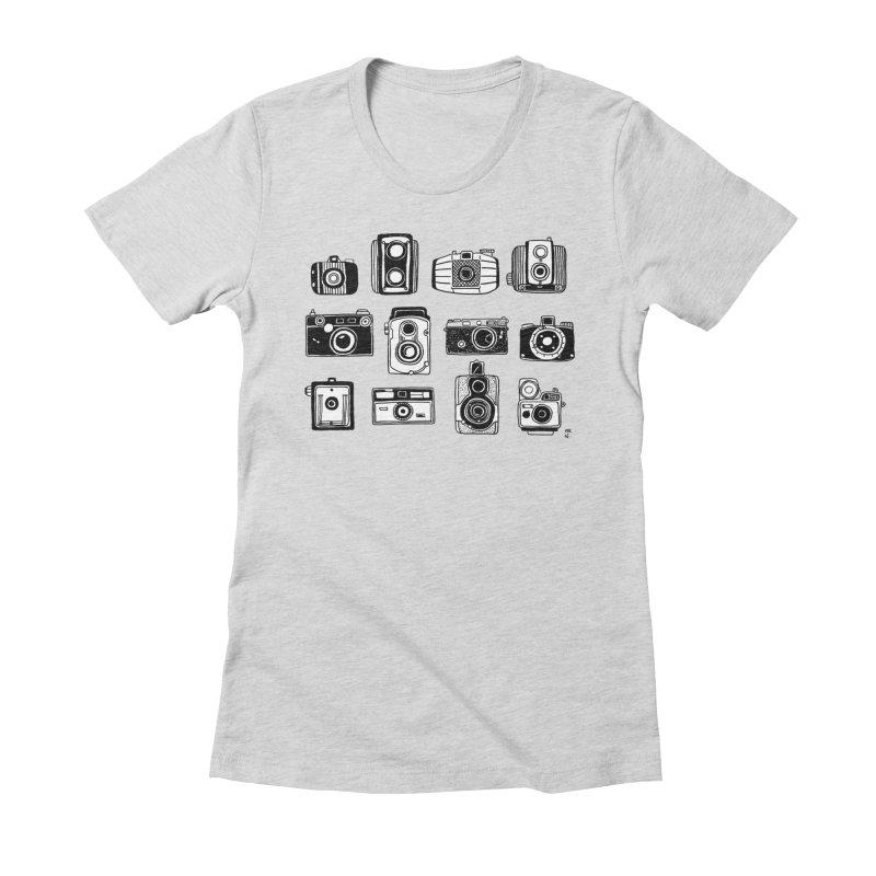 Snap Women's Fitted T-Shirt by marielashlinn's Artist Shop