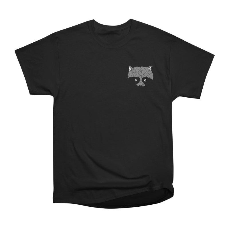 Raccoon Shirt Women's Heavyweight Unisex T-Shirt by Mariel Kelly