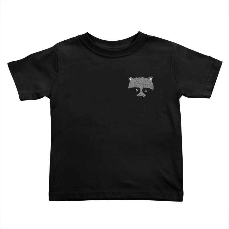 Raccoon Shirt Kids Toddler T-Shirt by Mariel Kelly