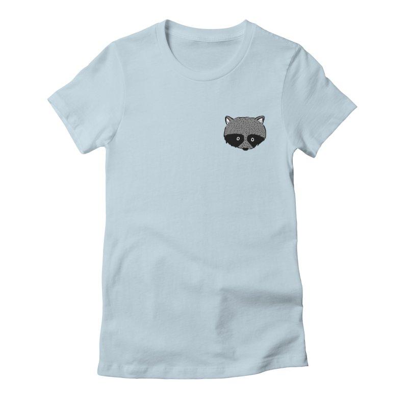 Raccoon Shirt Women's T-Shirt by Mariel Kelly