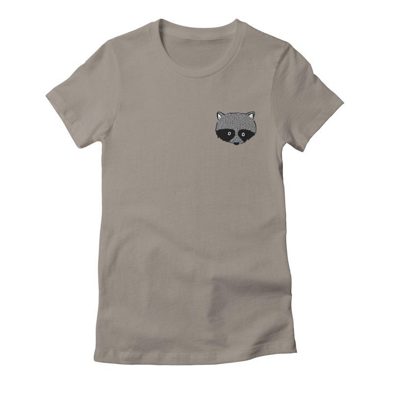 Raccoon Shirt Women's Fitted T-Shirt by marielashlinn's Artist Shop