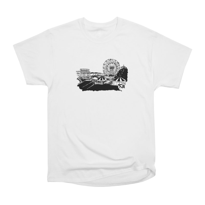 Coney Island Men's Heavyweight T-Shirt by Mariel Kelly