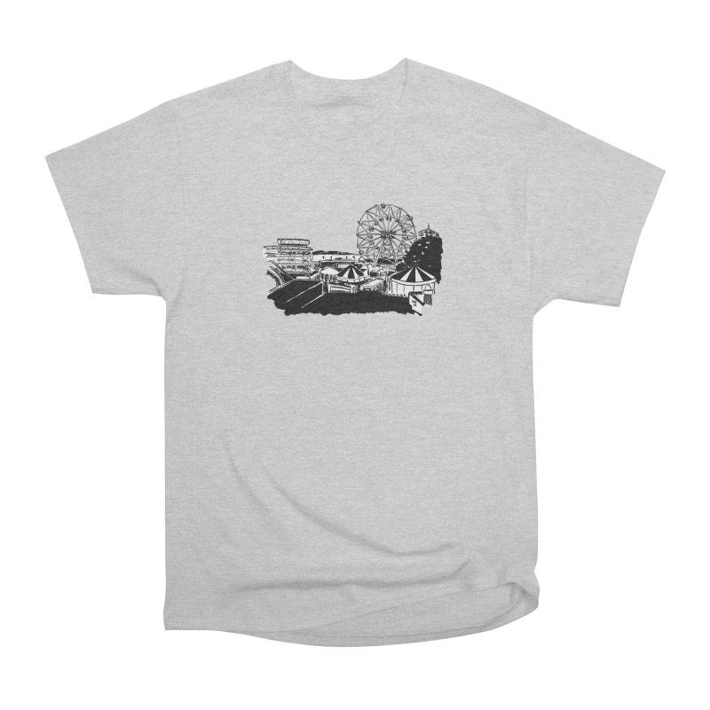 Coney Island Women's Heavyweight Unisex T-Shirt by Mariel Kelly
