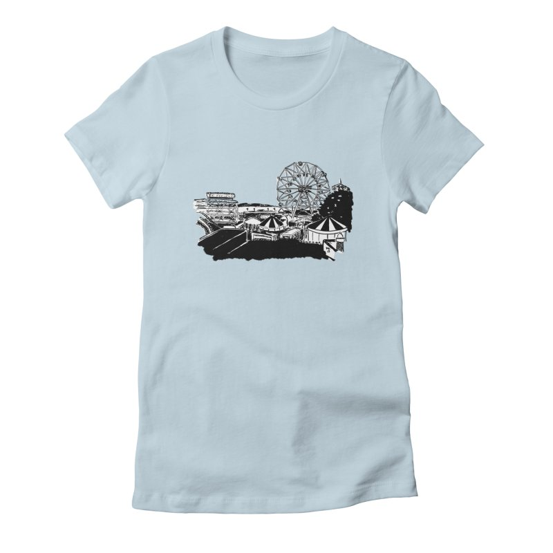 Coney Island Women's Fitted T-Shirt by Mariel Kelly
