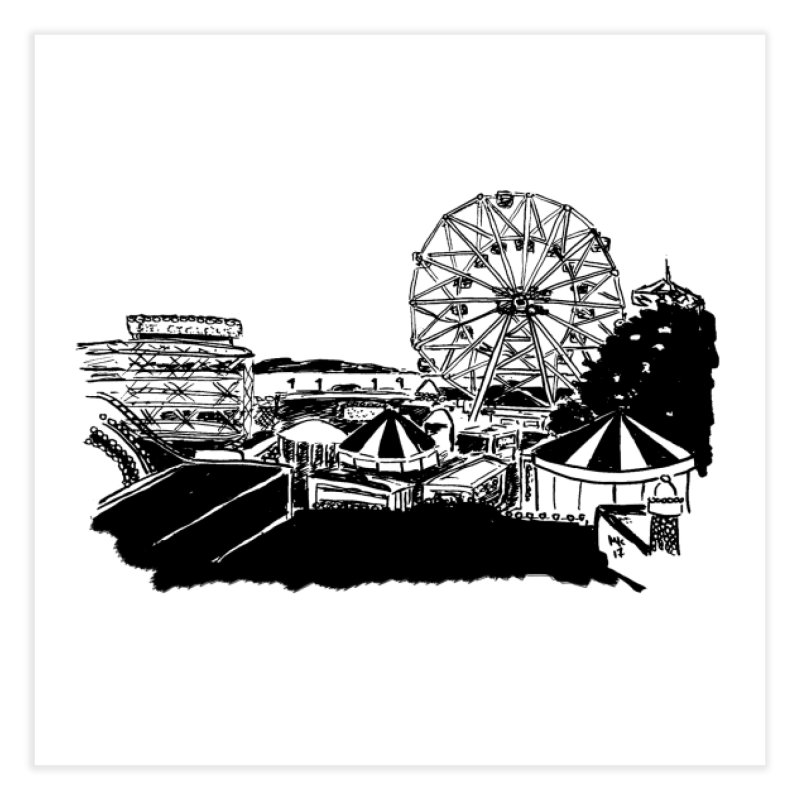 Coney Island Home Fine Art Print by Mariel Kelly