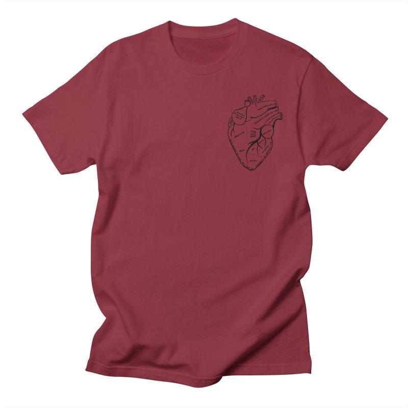 Heart Shirts Men's Regular T-Shirt by Mariel Kelly
