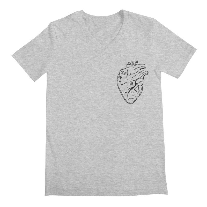Heart Shirts Men's Regular V-Neck by Mariel Kelly