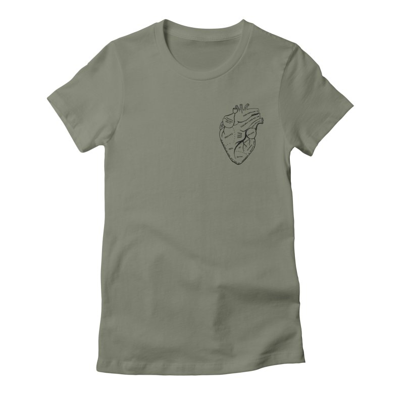 Heart Shirts Women's Fitted T-Shirt by Mariel Kelly