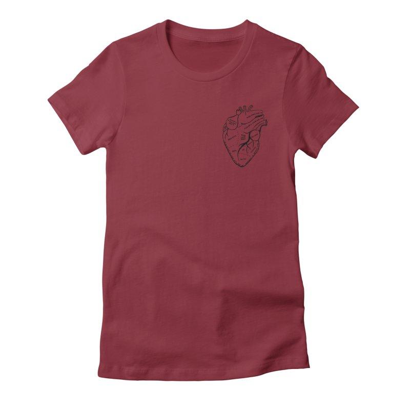 Heart Shirts Women's Fitted T-Shirt by marielashlinn's Artist Shop