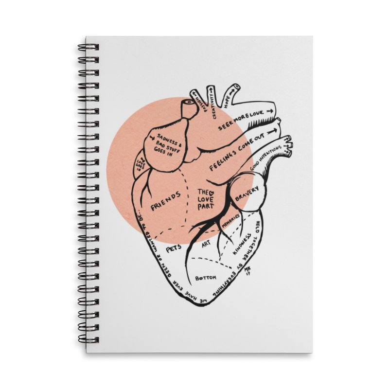 Heart Accessories Lined Spiral Notebook by Mariel Kelly