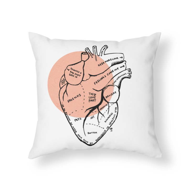 Heart Home Throw Pillow by Mariel Kelly