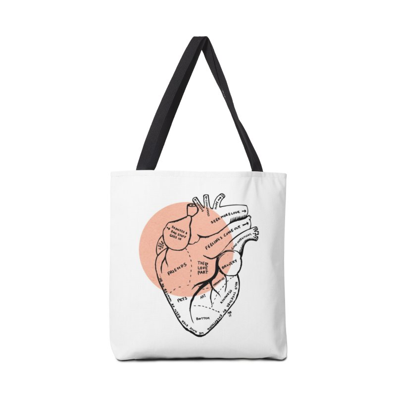 Heart Accessories Bag by marielashlinn's Artist Shop