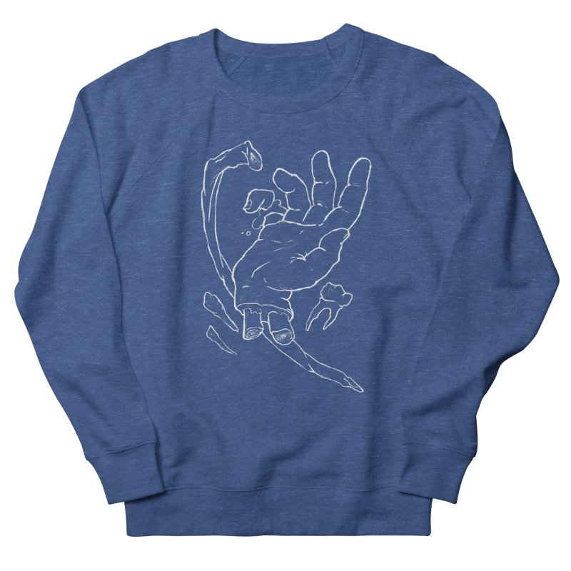 Hand Dandy - white Men's French Terry Sweatshirt by Marie Angoulvant's Shop