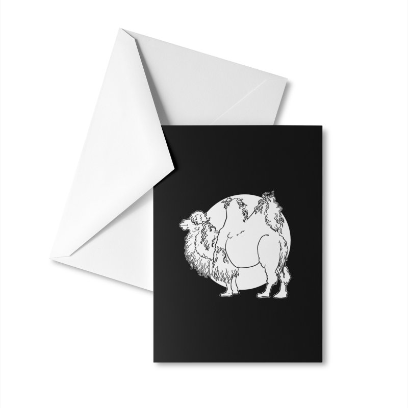 Bactrian Camel Accessories Greeting Card by Marie Angoulvant's Shop