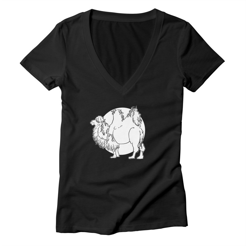 Bactrian Camel Women's V-Neck by Marie Angoulvant's Shop