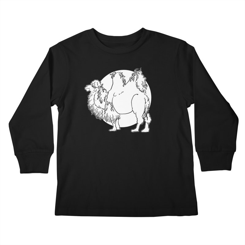 Bactrian Camel Kids Longsleeve T-Shirt by Marie Angoulvant's Shop