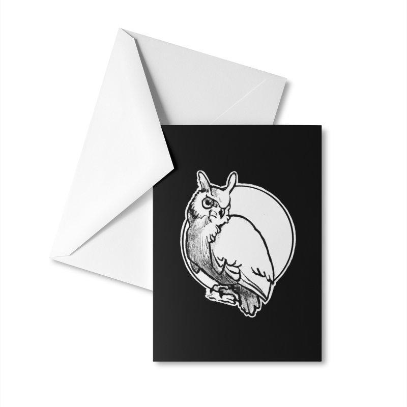 Owl Accessories Greeting Card by Marie Angoulvant's Shop