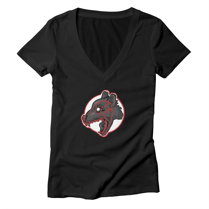 Tazmanian Devil Women's V-Neck by Marie Angoulvant's Shop