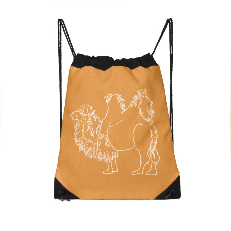 Bactrian Camel - White Lines and Color Edition Accessories Bag by Marie Angoulvant's Shop