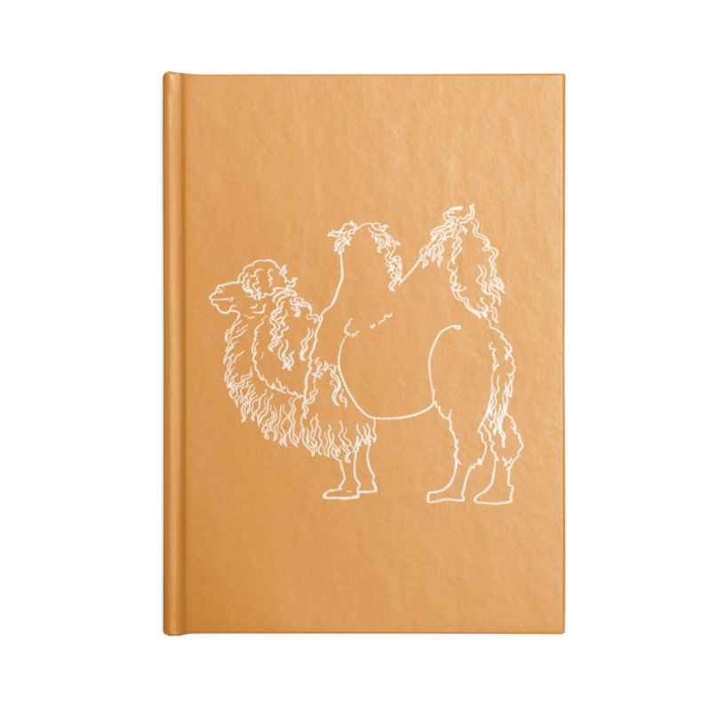 Bactrian Camel - White Lines and Color Edition Accessories Notebook by Marie Angoulvant's Shop
