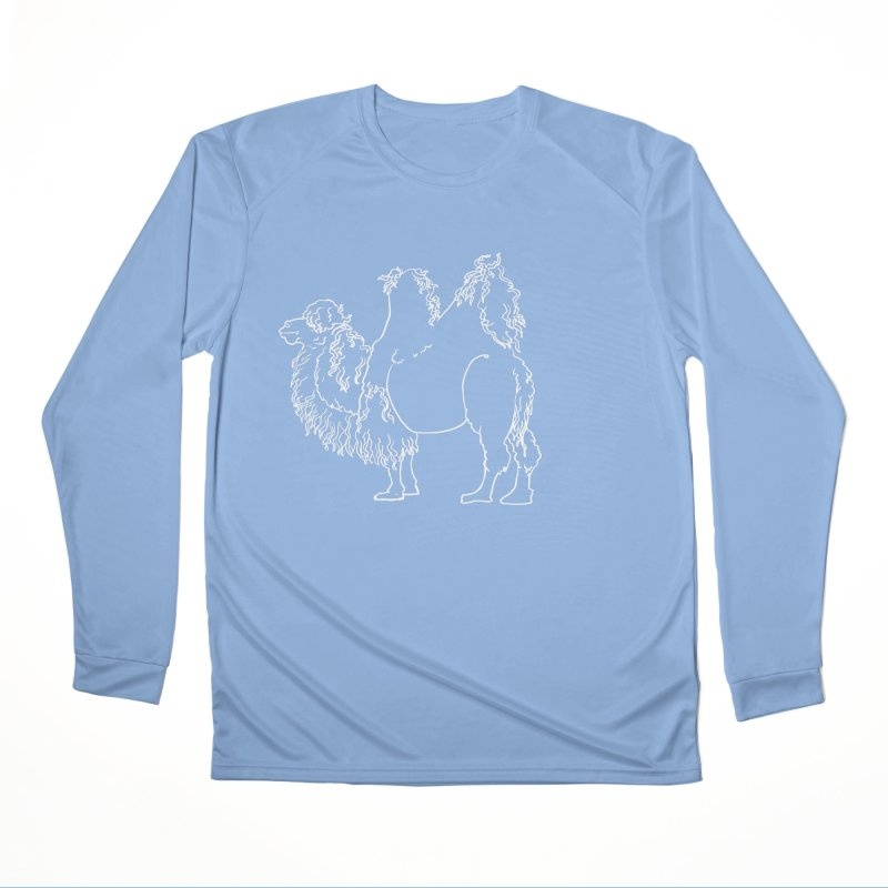 Bactrian Camel - White Lines and Color Edition Women's Longsleeve T-Shirt by Marie Angoulvant's Shop