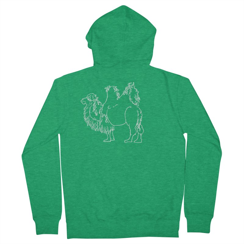 Bactrian Camel - White Lines and Color Edition Men's Zip-Up Hoody by Marie Angoulvant's Shop