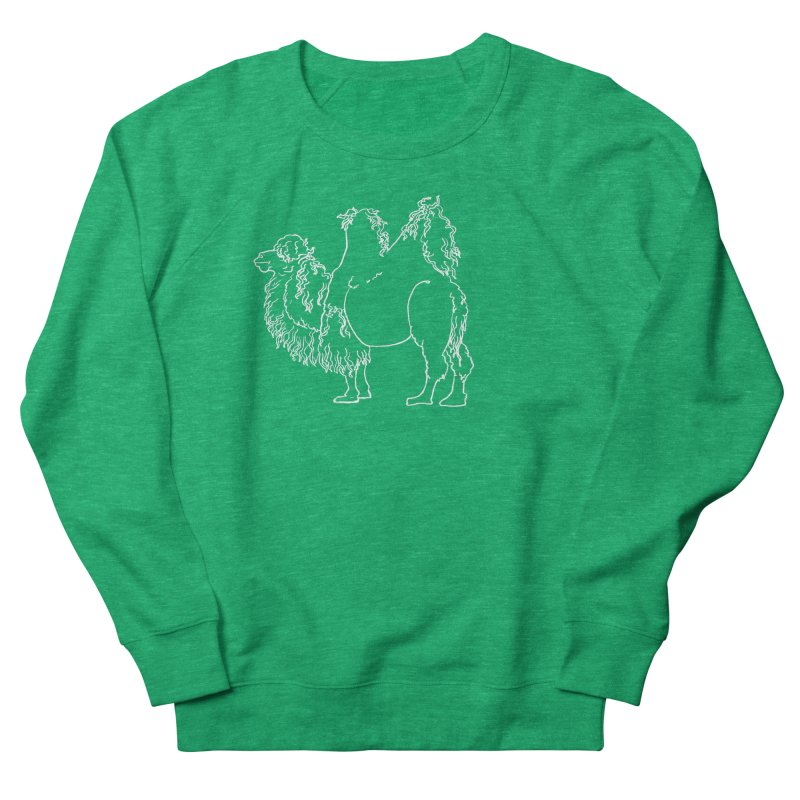 Bactrian Camel - White Lines and Color Edition Women's Sweatshirt by Marie Angoulvant's Shop