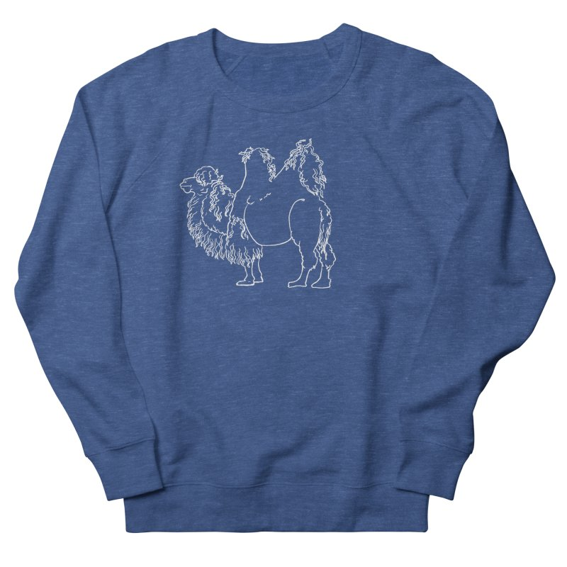 Bactrian Camel - White Lines and Color Edition Men's Sweatshirt by Marie Angoulvant's Shop