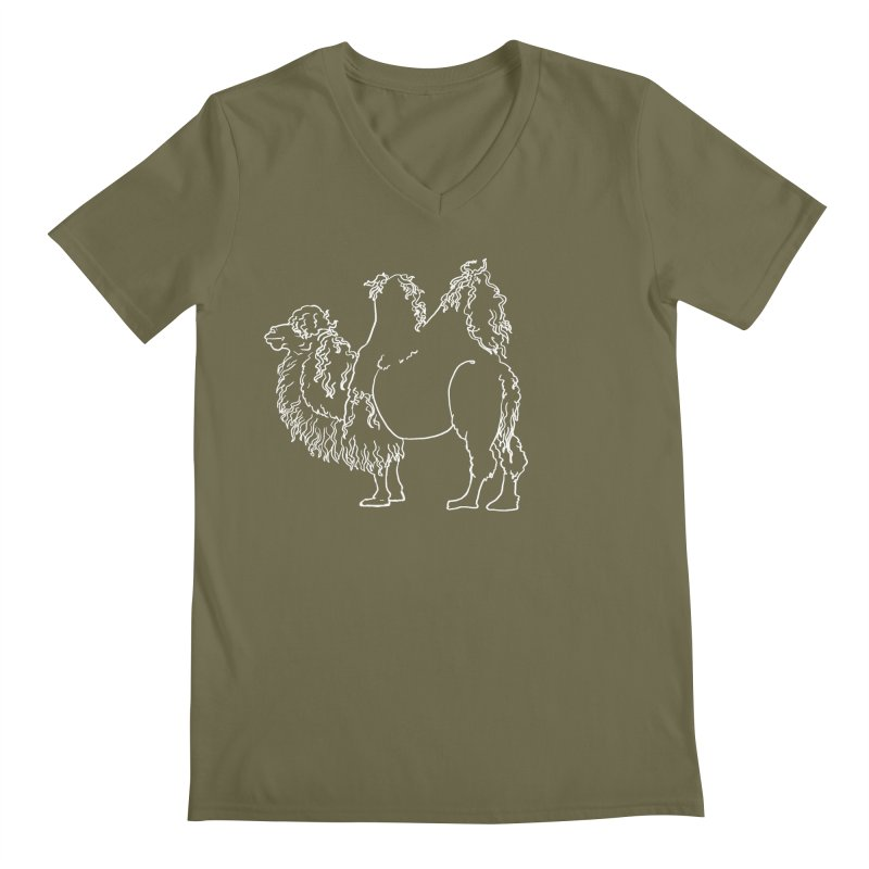 Bactrian Camel - White Lines and Color Edition Men's V-Neck by Marie Angoulvant's Shop
