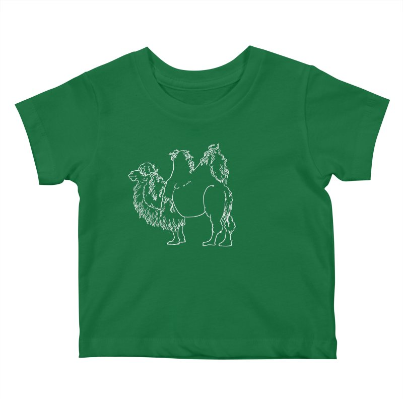 Bactrian Camel - White Lines and Color Edition Kids Baby T-Shirt by Marie Angoulvant's Shop