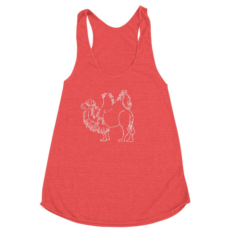 Bactrian Camel - White Lines and Color Edition Women's Tank by Marie Angoulvant's Shop