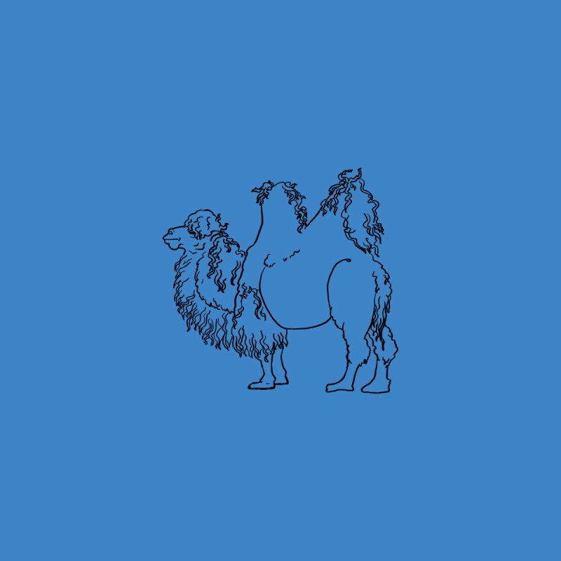 Bactrian Camel - Black Lines and Color Edition Men's T-Shirt by Marie Angoulvant's Shop