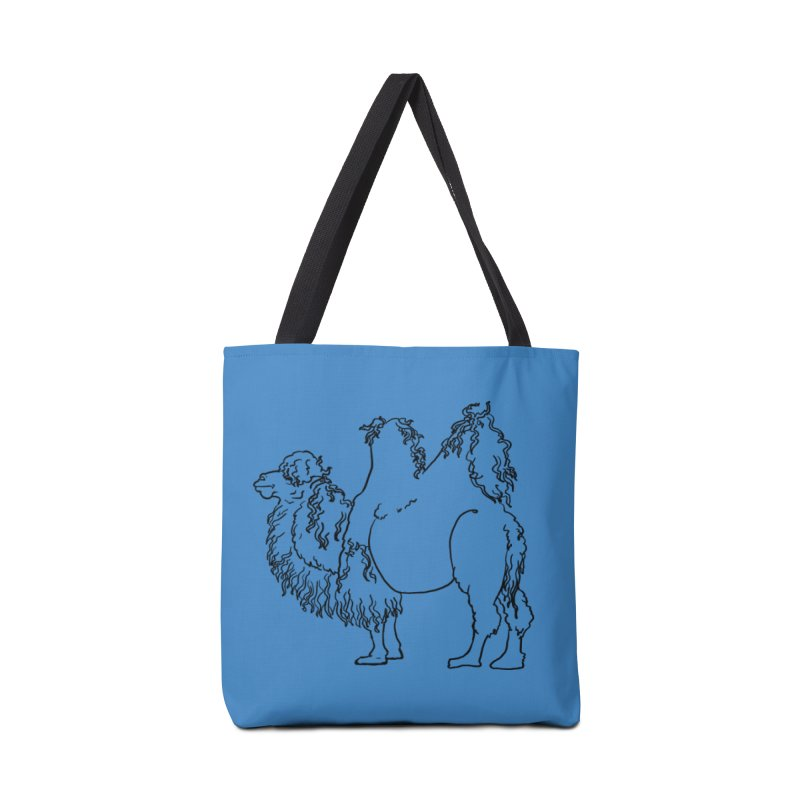 Bactrian Camel - Black Lines and Color Edition Accessories Bag by Marie Angoulvant's Shop