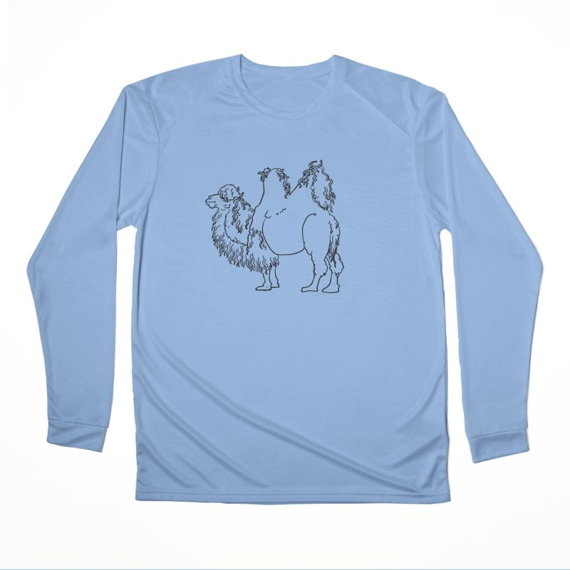Bactrian Camel - Black Lines and Color Edition Women's Longsleeve T-Shirt by Marie Angoulvant's Shop