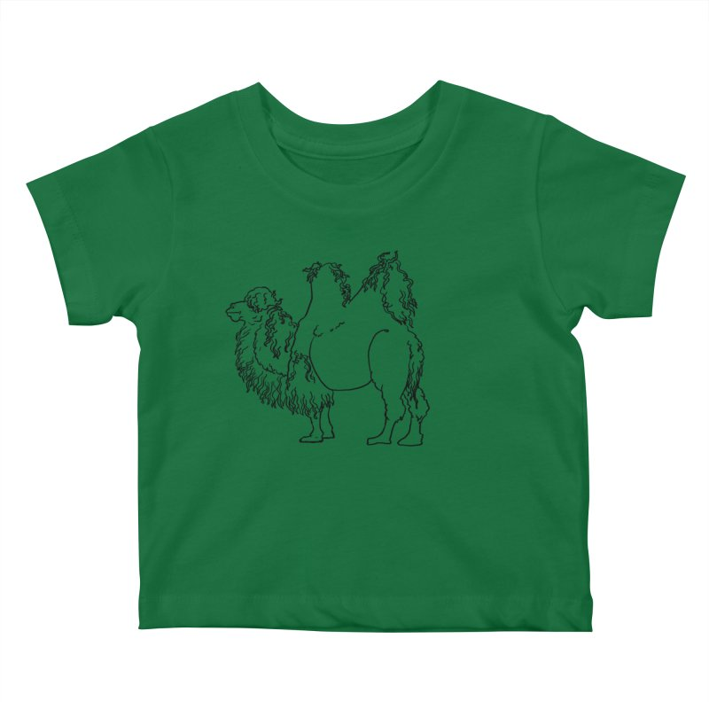Bactrian Camel - Black Lines and Color Edition Kids Baby T-Shirt by Marie Angoulvant's Shop