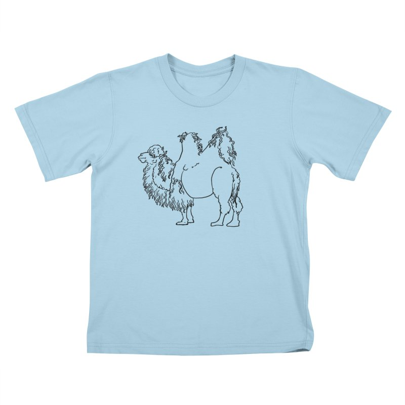Bactrian Camel - Black Lines and Color Edition Kids T-Shirt by Marie Angoulvant's Shop