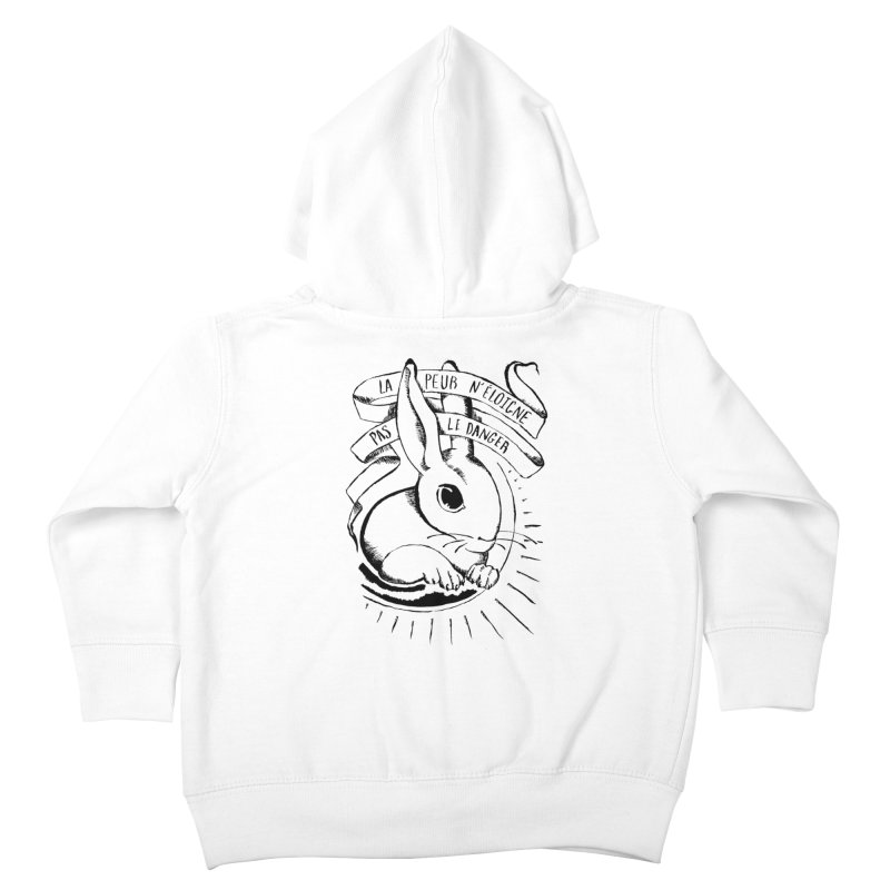 Fear Does Not Distance Danger Kids Toddler Zip-Up Hoody by Marie Angoulvant's Shop