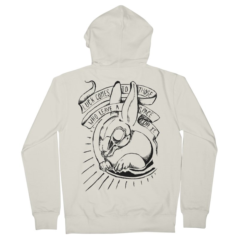 Luck Comes To Those Who Leave A Space For It Women's French Terry Zip-Up Hoody by Marie Angoulvant's Shop