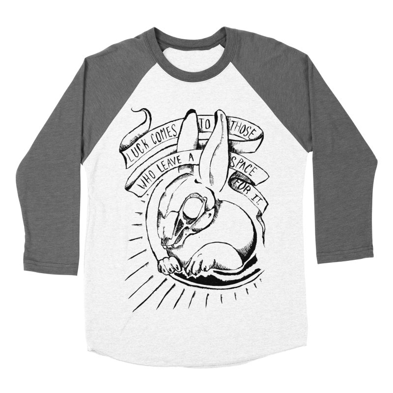 Luck Comes To Those Who Leave A Space For It Men's Baseball Triblend Longsleeve T-Shirt by Marie Angoulvant's Shop