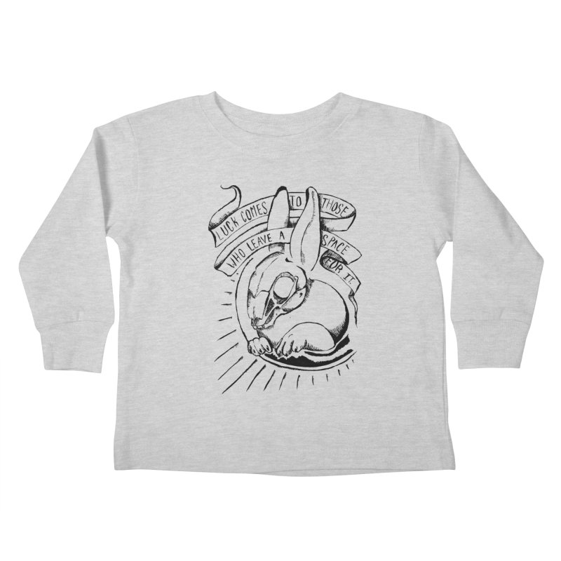 Luck Comes To Those Who Leave A Space For It Kids Toddler Longsleeve T-Shirt by Marie Angoulvant's Shop