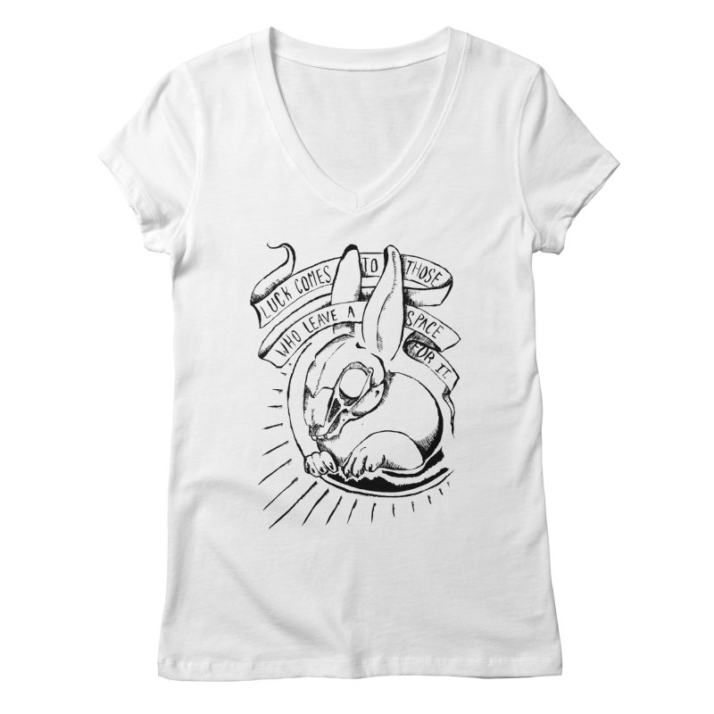 Luck Comes To Those Who Leave A Space For It Women's Regular V-Neck by Marie Angoulvant's Shop