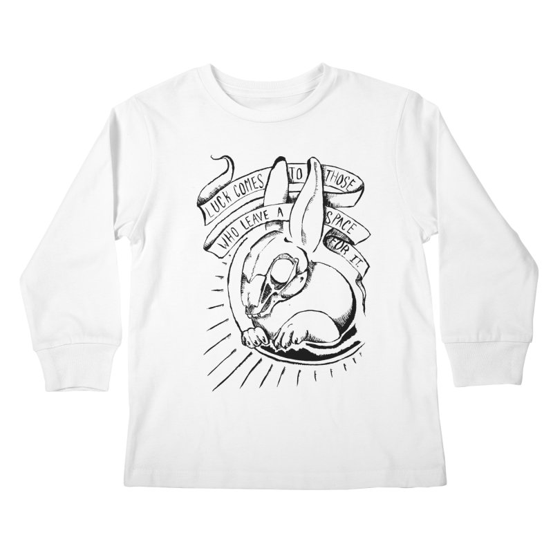 Luck Comes To Those Who Leave A Space For It Kids Longsleeve T-Shirt by Marie Angoulvant's Shop